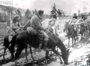 Zdjęcie z 6 grudnia 1914 zrobione podczas bitwy pod Maciejowicami.