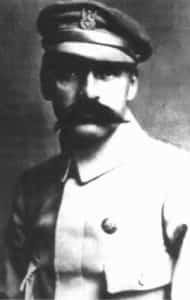 """Fotografia J. Piłsudskiego z 1914 roku, opublikowana w piśmie """"Robotnik"""" w 1920 r."""
