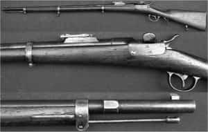 Zdjęcie karabinu Werndla, z którym legioniści poszli w pierwsze boje.