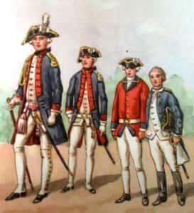 Rysunek B. Gembarzewskiego przedstawiający korpus kadetów 1770 r.