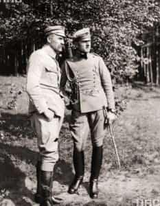 Zdjęcie brygadiera Józefa Piłsudskiego i porucznika Bolesława Wieniawy-Długoszowskiego