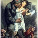 Plakat z czasów wojny polsko-bolszewickiej 1920 roku przestrzegający przed bolszewikami.