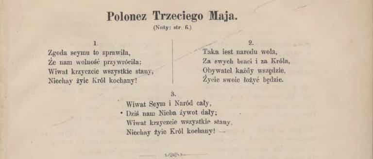 Polonez Trzeciego Maja śpiewnik Niepodległości