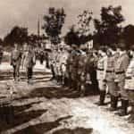 Zdjęcie prezentujące przegląd oddziałów Związku Strzeleckiego w Zakopanem (sierpień 1913 r.)