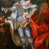 Obraz autorstwa Marcello Bacciarellego (1768–1771) przedstawiający portret Stanisława Augusta Poniatowskiego w stroju koronacyjnym.