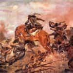 Obraz autorstwa Wojciecha Kossaka z 1934 roku pod tytułem Szarża pod Rokitną.