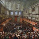 Obraz autorstwa Kazimierza Wojniakowskiego z 1806 roku. Uchwalenie Konstytucji 3 maja.