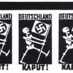 """Skan ulotki kolportowanej wśród żołnierzy niemieckich po bitwie stalingradzkiej (""""Akcja N"""") z napisem """"Deutschland Kaput""""."""
