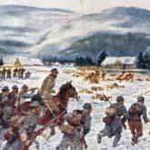 A gdy na wojenkę szli Ojczyźnie służyć obraz Kossaka Bitwa pod Rafajłową