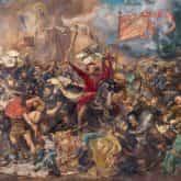 ilustracja do utworu Bogurodzica Bitwa pod grunwaldem obraz Jan Matejko