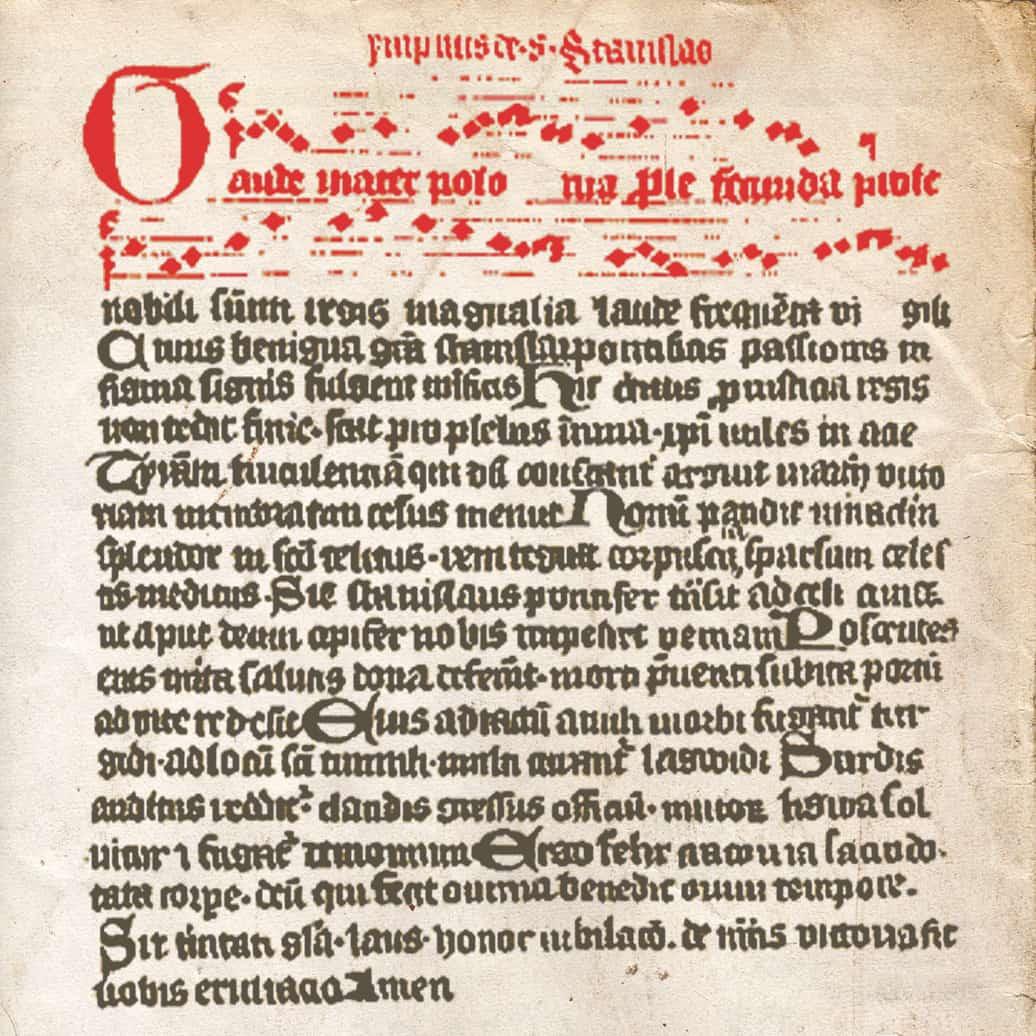 ilustracja utworu Gaude Mater Polonia