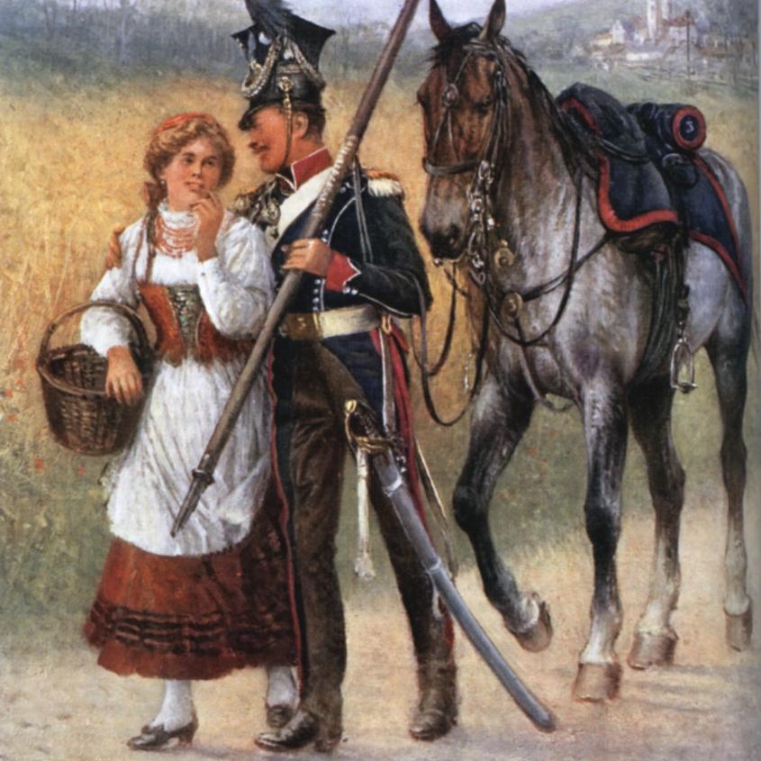 Hej hej ułani ilustracja do utworu obraz Ułan kompanii centralnej Jan Chełmiński