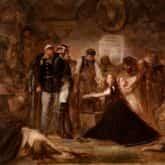 ilustracja do utworu Marsz strzelców obraz Polonia – Rok 1863 autorstwa Jana Matejki