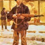 Obraz autorstwa Wojciecha Kossaka. Młody obrońca Lwowa w 1918 r.