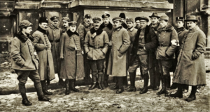 Zdjęcie Naczelnej Komendy Obrony Lwowa z 1918 r.