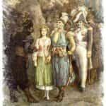 Ilustracja 12 księgi Pana Tadeusza autorstwa Michała Andriolli (1882).