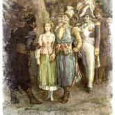 Polonez trzeciego maja ilustracja do utworu Pan Tadeusz księga XII grafika Michał Andriolli