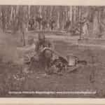 Zdjęcie żołnierzy przy ognisku pod Urzędowem