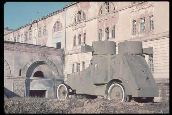 Pancerny Fiat Iżorski z okresu wojny polsko-bolszewickiej