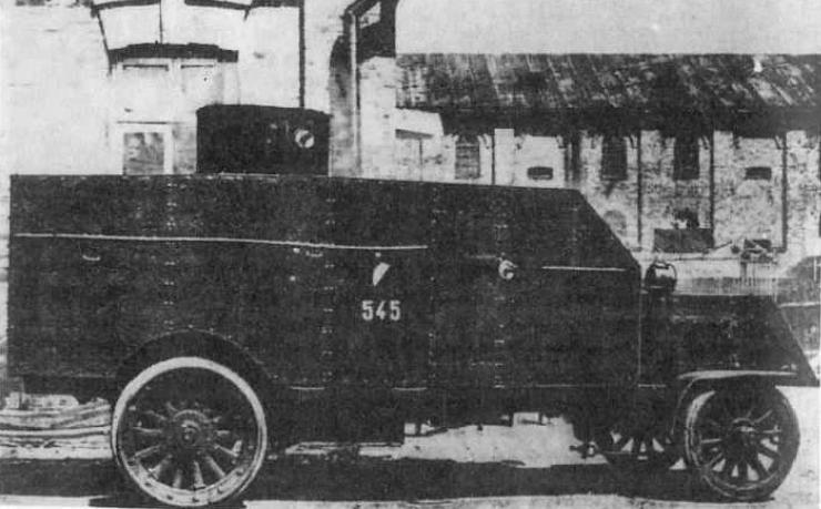 Samochód pancerny Peerless.