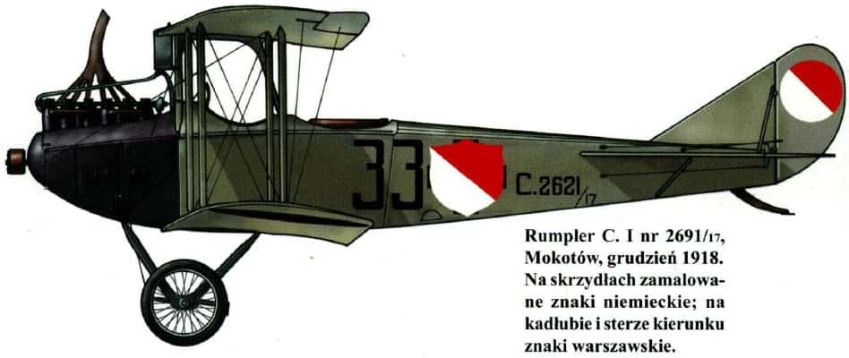 Samolot Rumpler C. I z 1918 r.