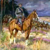 Szara Piechota ilustracja do utworu obraz Piłsudski na Kasztance Wojciech Kossak