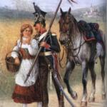 Obraz Jan Chełmiński 1913. Ułan kompanii centralnej.