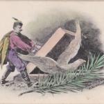 Walery Eljasz-Radzikowski grafika przedstawiająca uwolnienie orła