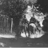 Patrol ułanów 1 Pułku I Brygady Legionów (1914-15). Ze zbiorów Narodowego Archiwum Cyfrowego).