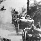 Artyleria I Brygady Legionów w bitwie pod Konarami (maj 1915). Ze zbiorów Narodowego Archiwum Cyfrowego).
