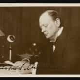 Winston Churchill (1933). Źródło: Polona