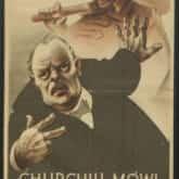 Winston Churchill mówi o bolszewiźmie. Plakat. Źródło: Polona