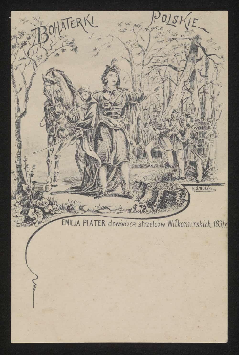 Emilia Broel-Plater herbu Plater (ur. 13 listopada 1806 w Wilnie, zm. 23 grudnia 1831 w Justianowie). Źródło: Polona