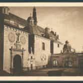Częstochowa - klasztor na Jasnej Górze (pocztówka). Źródło: Polona
