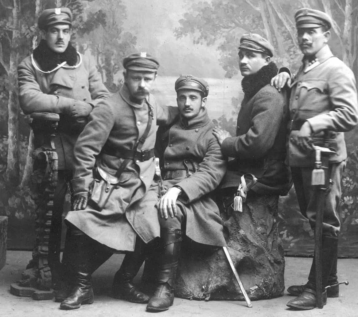 Legioniści I Brygady (czerwiec 1916). Ze zbiorów Narodowego Archiwum Cyfrowego