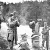 Legioniści I Brygady (14 maja 1915 r.). Ze zbiorów Narodowego Archiwum Cyfrowego.