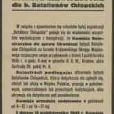 Obwieszczenie o likwidacji Batalionów Chłopskich (1945 r.). Źródło: Polona