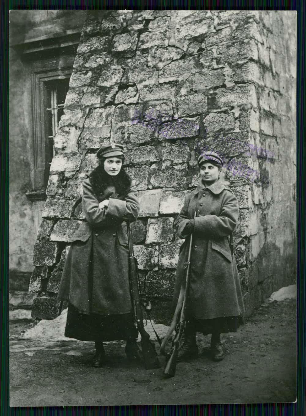 O.L.K. we Lwowie podczas warty (1918-20). Źródło: Polona