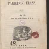 Pamiętnik ułana (1855). Źródło: Polona