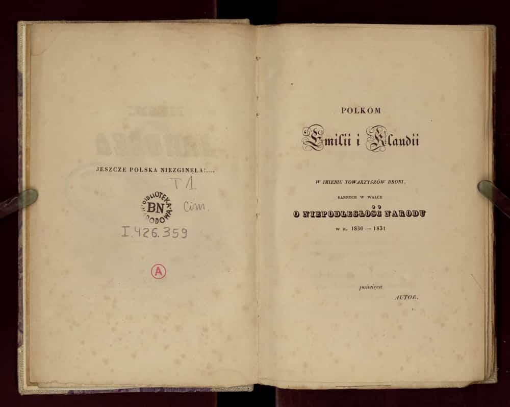 Pieśni Janusza wydanie z 1833 r. Paryż.