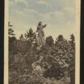 Pocztówka Trembowla - pomnik Zofji Chrzanowskiej. Źródło: Polona