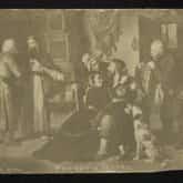 Pocztówka Powrót z jasyru (1863). Źródło: Polona