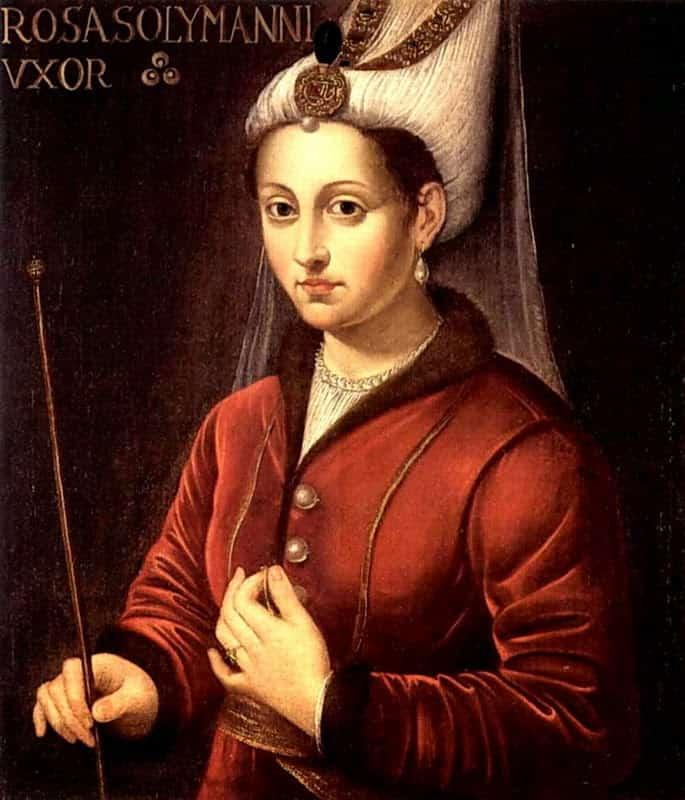 Portret Roksolany. Wg. XIX w. literatury Roksolana urodziła się jako Anastazja (Nastia) lub Aleksandra Lisowska.