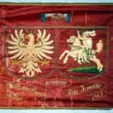 """W 1863 r. Żydówki kaliskie potajemnie wyhaftowały chorągiew bojową z napisem """"Walecznym braciom Polakom"""" i podarowały ją powstańcom."""