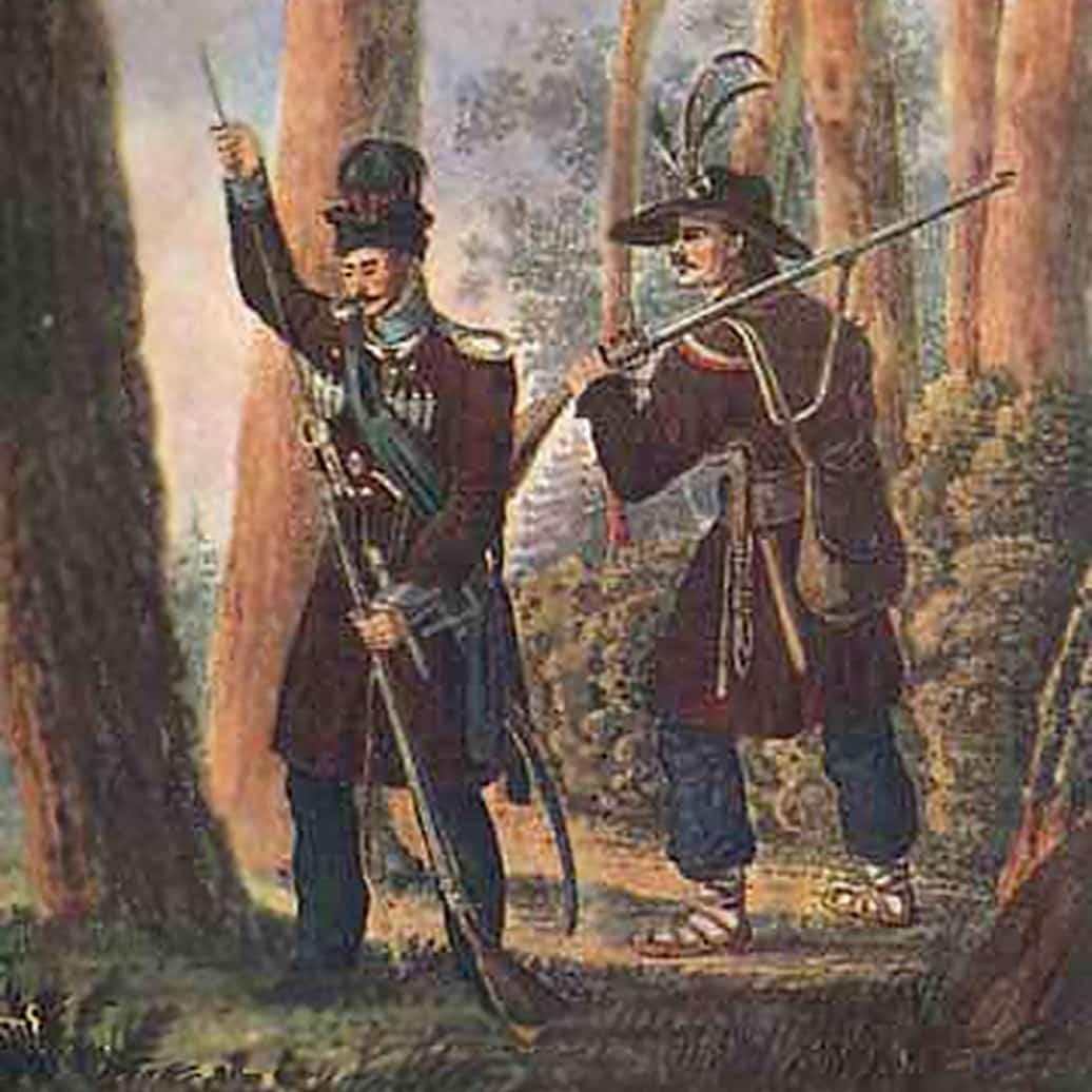 Ilustracja do utworu A na boru sośnia