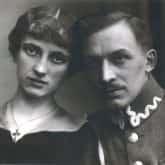 Andrzej Hałaciński z żoną Zofią. Fot. Muzeum Katyńskie. Źródło: IPN