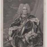 Król Polski August II Mocny. Grafika autorstwa Martin Bernigeroth. Źródło: Polona