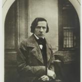 Fotografia Fryderyka Chopina autorstwa Louisa-Auguste'a Bissona, 1849. Źródło: Polona
