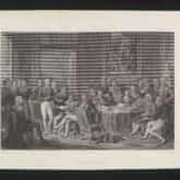 Kongres Wiedeński. Staloryt autorstwa Jean-Jacques Outhwaite (przed 1877). Źródło: Polona