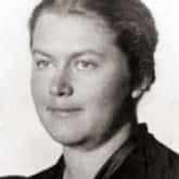 Krystyna Krahelska, która pozowała Ludwice Nitschowej do opracowania głowy i korpusu Syreny. Źródło: Wikipedia / Archiwum Akt Nowych